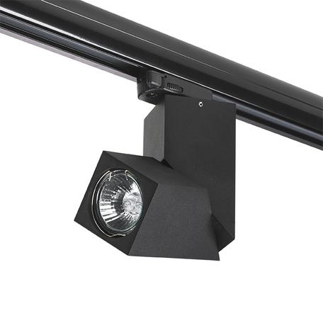 Крепление-адаптер для монтажа светильника на трек Lightstar Asta 594017, черный, металл
