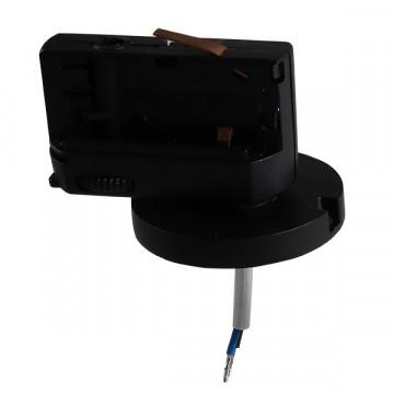 Крепление-адаптер для монтажа светильника на трек Lightstar Asta 594017, черный, металл - миниатюра 2