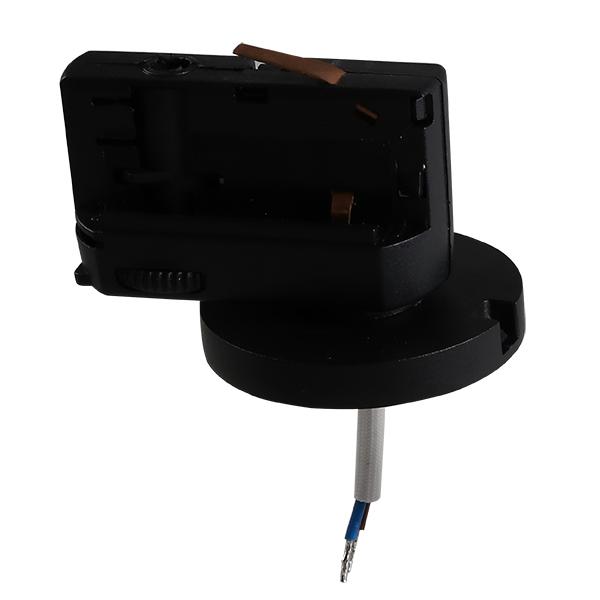 Крепление-адаптер для монтажа светильника на трек Lightstar Asta 594017, черный, металл - фото 2