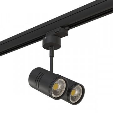 Крепление-адаптер для монтажа светильника на трек Lightstar Asta 594017, черный, металл - миниатюра 5