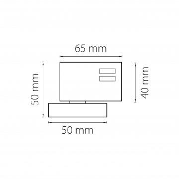 Схема с размерами Lightstar 594017