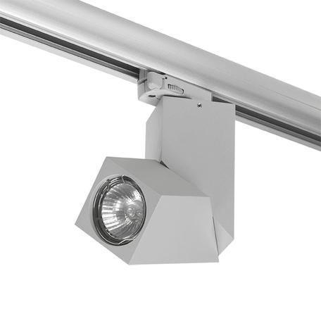 Крепление-адаптер для монтажа светильника на трек Lightstar Asta 594019, серый, металл