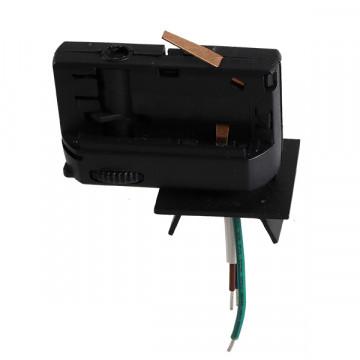 Крепление-адаптер для монтажа светильника на трек Lightstar Asta 594027, черный, металл