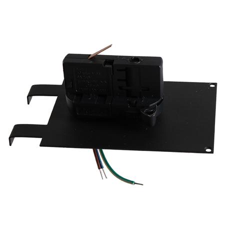 Крепление-адаптер для монтажа светильника на трек Lightstar Asta 594037, черный, металл