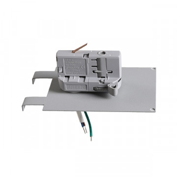 Крепление-адаптер для монтажа светильника на трек Lightstar Asta 594039, серый, металл