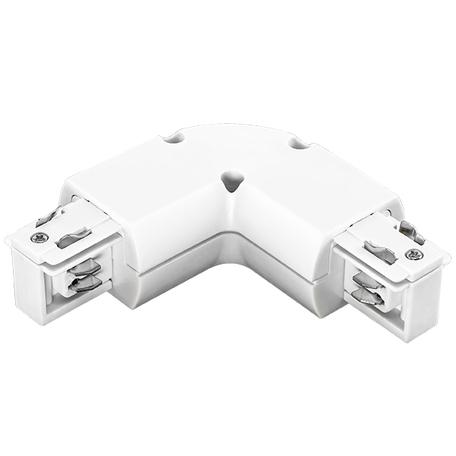 L-образный соединитель для шинопровода Lightstar Barra 504126, белый, пластик