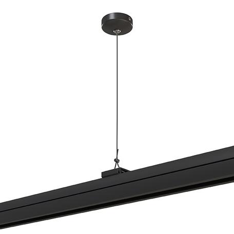 Крепление для подвесного монтажа шинопровода Lightstar Barra 504197, черный, металл