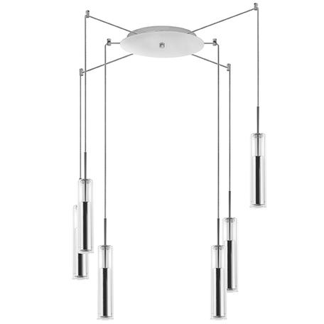 Люстра-паук Lightstar Cilino 756064, 6xGU10x40W, хром, прозрачный, металл, стекло