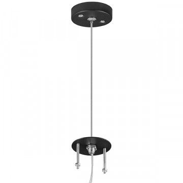 Набор для подвесного монтажа светильника Lightstar Rullo 590057, черный, металл