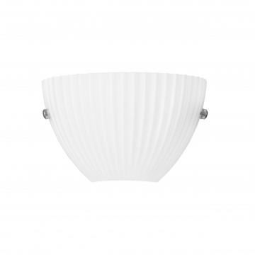 Настенный светильник Lightstar Agola 810810, 1xG9x40W, хром, белый, металл, стекло