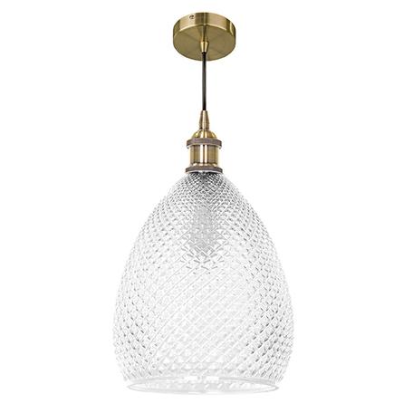 Подвесной светильник Lightstar Genni 798021, 1xE27x40W, бронза, прозрачный, металл, стекло