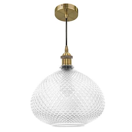 Подвесной светильник Lightstar Genni 798031, 1xE27x40W, бронза, прозрачный, металл, стекло