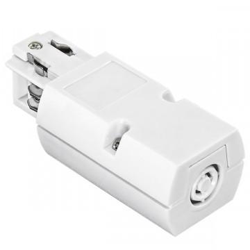 Подвод питания для шинной системы Lightstar Barra 504116, белый, пластик