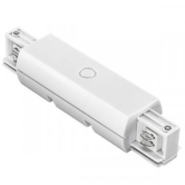 Прямой соединитель для шинопровода Lightstar Barra 504186, белый, пластик