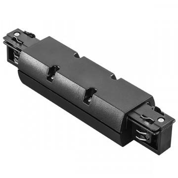 Прямой соединитель для шинопровода Lightstar Barra 504187, черный, пластик