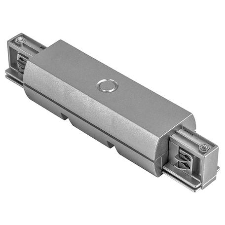 Прямой соединитель для шинопровода Lightstar Barra 504189, серый, пластик