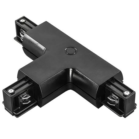 T-образный соединитель для шинопровода Lightstar Barra 504137, черный, пластик