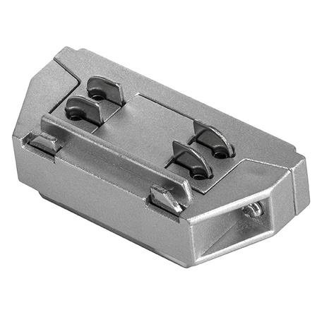 Внутренний прямой соединитель для шинопровода Lightstar Barra 504109, серый, пластик