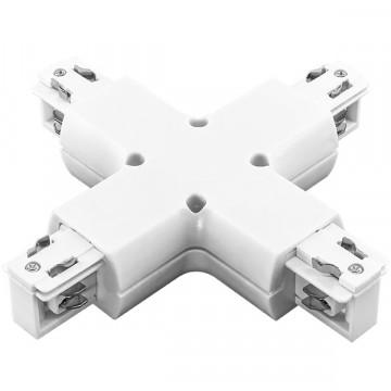 X-образный соединитель для шинопровода Lightstar Barra 504146, белый, пластик