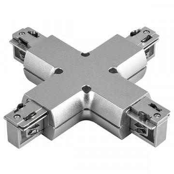 X-образный соединитель для шинопровода Lightstar Barra 504149, серый, пластик