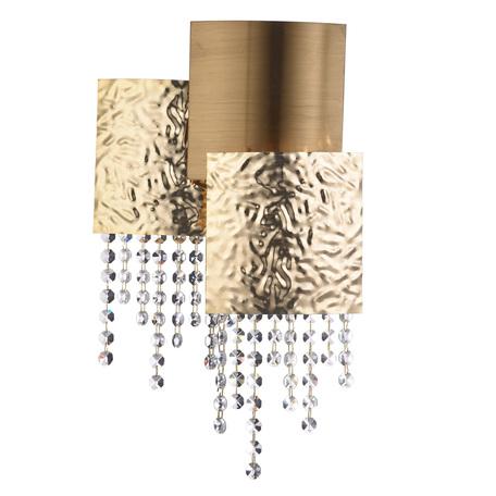 Бра Chiaro Кармен 394022303, 3xG9x40W, золото, прозрачный, металл, хрусталь