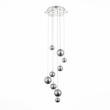 Светодиодная люстра-каскад ST Luce Mella SL936.103.09, LED 27W 6000K, хром, металл