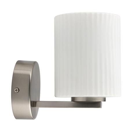 Светодиодное бра De Markt Аква 509024201, IP44, LED 5W 4000K 300lm, серебро, белый, металл, стекло