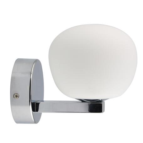 Светодиодное бра De Markt Аква 509024301, IP44, LED 5W 4000K 300lm, хром, белый, металл, стекло