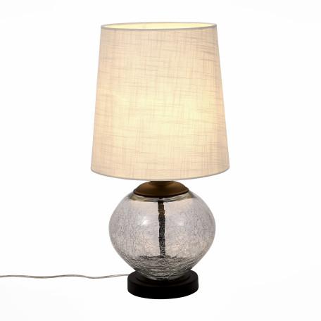 Настольная лампа ST Luce Ampolla SL971.104.01, 1xE27x60W, коричневый, прозрачный, бежевый, стекло, текстиль