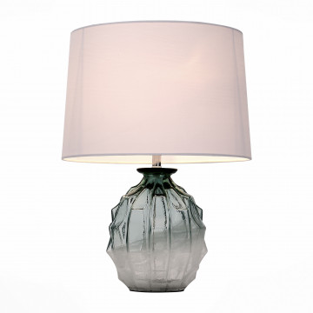 Настольная лампа ST Luce Ampolla SL972.804.01, 1xE27x60W, зеленый, белый, стекло, текстиль