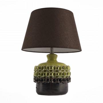 Настольная лампа ST Luce Tabella SL995.304.01, 1xE27x60W, зеленый, коричневый, керамика, текстиль