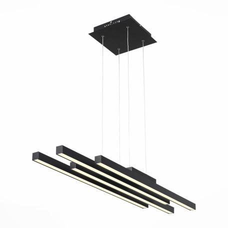 Подвесной светодиодный светильник с пультом ДУ ST Luce Samento SL933.403.04, LED 80W 4000K, черный, металл, металл с пластиком
