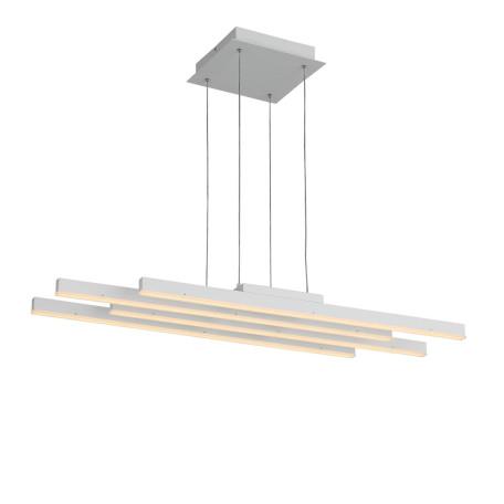 Подвесной светодиодный светильник с пультом ДУ ST Luce Samento SL933.503.04, LED 80W 4000K, белый, металл, металл с пластиком