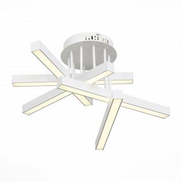 Потолочная светодиодная люстра с пультом ДУ ST Luce Samento SL933.502.05, LED 50W 4000K, белый, металл, металл с пластиком