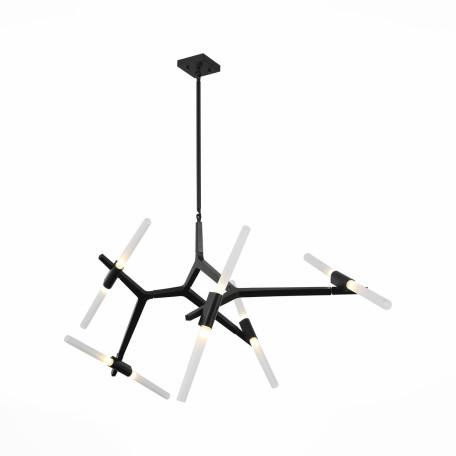 Потолочная люстра с регулировкой направления света ST Luce Bastoni SL947.402.10, 10xG9x40W, черный, белый, металл, стекло