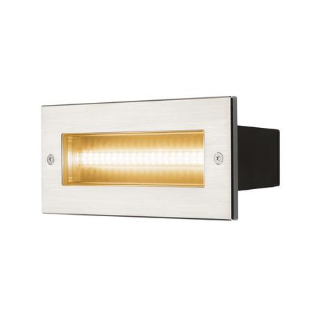 Встраиваемый настенный светодиодный светильник SLV BRICK SYMETRIC 233650, IP65, LED 3000K, сталь, металл