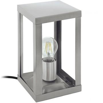 Садовый светильник Eglo Alamonte 94787, IP44, 1xE27x60W, сталь, прозрачный, металл со стеклом