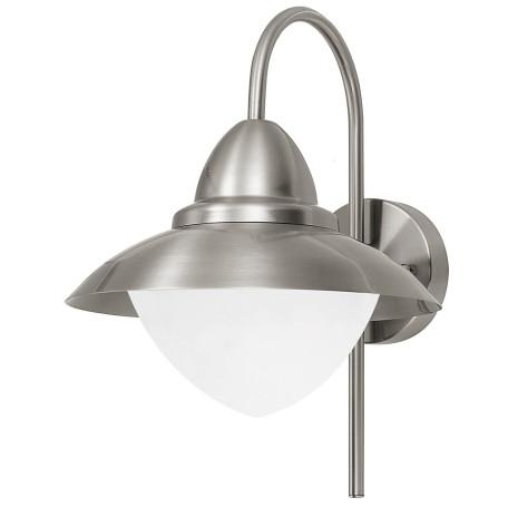 Настенный фонарь Eglo Sidney 83966, IP44, 1xE27x60W, сталь, металл, металл со стеклом