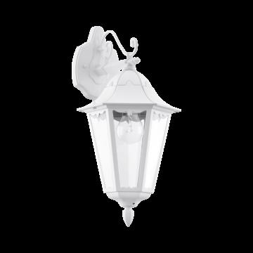 Настенный фонарь Eglo Navedo 93445, IP44, 1xE27x60W, белый, прозрачный, металл, металл со стеклом/пластиком