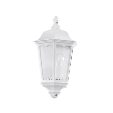 Настенный фонарь Eglo Navedo 93448, IP44, 1xE27x60W, белый, прозрачный, металл со стеклом