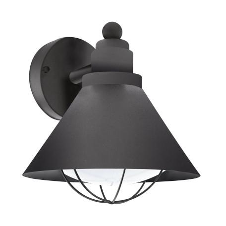 Настенный фонарь Eglo Barrosela 94805, IP44, 1xE27x40W, черный, металл, пластик