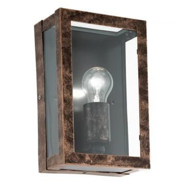 Настенный светильник Eglo Alamonte 2 96272, IP44, 1xE27x60W, медь, прозрачный, металл, стекло