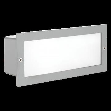 Встраиваемый настенный светильник Eglo Zimba 88008, IP44, 1xE27x60W, серебро, металл со стеклом, стекло
