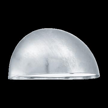 Настенный светильник Eglo Lepus 90867, IP23, 1xE27x40W, серебро, металл, пластик