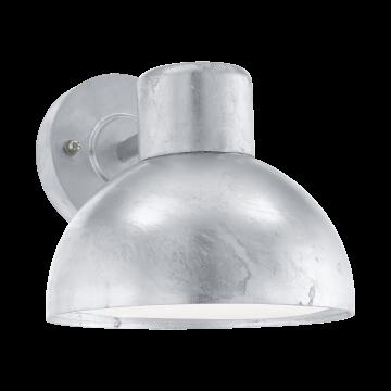 Настенный светильник Eglo Entrimo 96206, IP44, 1xE27x60W, серебро, металл, пластик