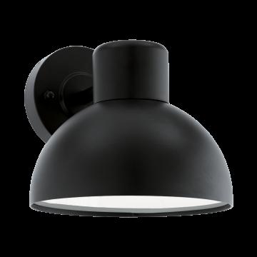 Бра Eglo Entrimo 96207, IP44, 1xE27x60W, черный, металл, пластик