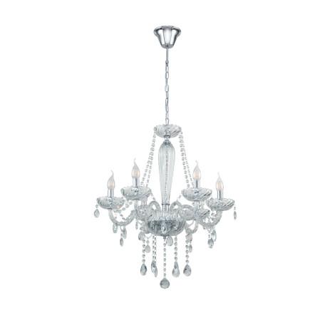 Подвесная люстра Eglo Basilano 1 39099, 6xE14x40W, прозрачный, хром, стекло