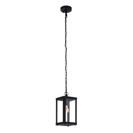 Подвесной светильник Eglo Alamonte 1 94788, IP44, 1xE27x60W, черный, прозрачный, металл, металл со стеклом