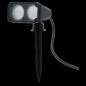 Прожектор с колышком Eglo Nema 1 93385, IP44, 2xGU10x3W, черный, пластик