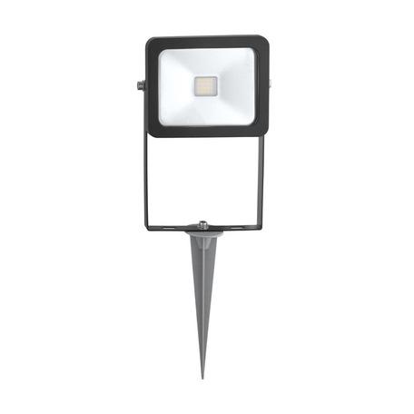 Светодиодный прожектор с колышком Eglo Faedo 1 96284, IP44, LED 10W 6500K CRI>65, черный, металл, металл со стеклом